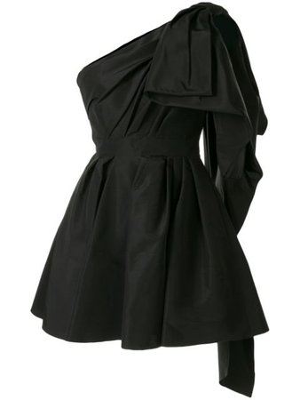 Carolina Herrera, Black Bow mini dress