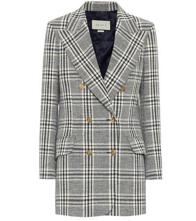 Gucci - Checked wool-blend jacket | Mytheresa