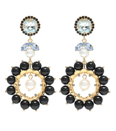 Crystal-Embellished Earrings | Erdem - Mytheresa