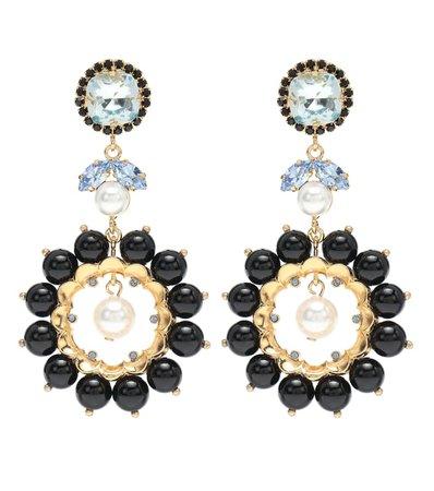 Crystal-Embellished Earrings | Erdem - Mytheresa