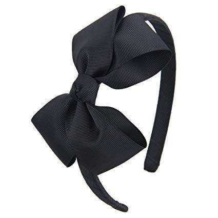 Amazon.com : 7Rainbows Fashion Cute White Bow Headband for Girls Toddlers. : Beauty