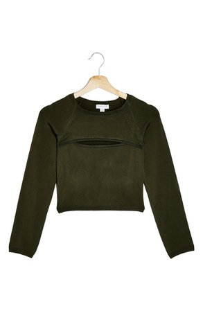 Topshop Cutout Crop Sweater | Nordstrom
