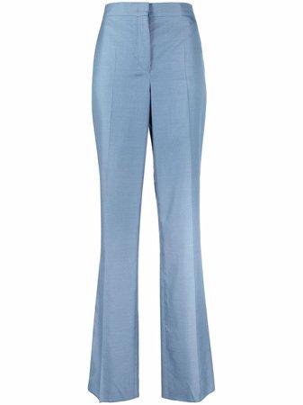 Salvatore Ferragamo high-waisted silk trousers - FARFETCH