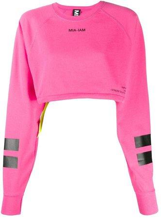 Mia-Iam Puff11 cropped sweatshirt