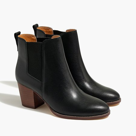 J.Crew Factory: Rory Leather Heeled Boots For Women