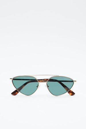 METALLIC FRAMED SUNGLASSES | ZARA United States blue