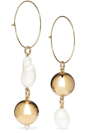 Mounser | Pagoda Fruit gold-plated pearl earrings | NET-A-PORTER.COM