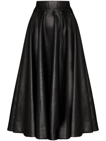 ANOUKI faux-leather Full Skirt - Farfetch