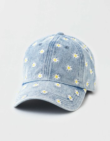 AE Denim Daisy Baseball Hat