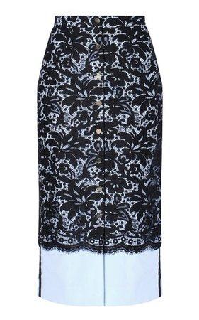 Gainor Lace Midi Skirt By Erdem | Moda Operandi