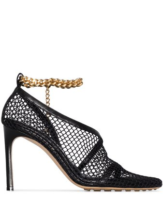 Bottega Veneta chain-trimmed 100mm Mesh Sandals - Farfetch