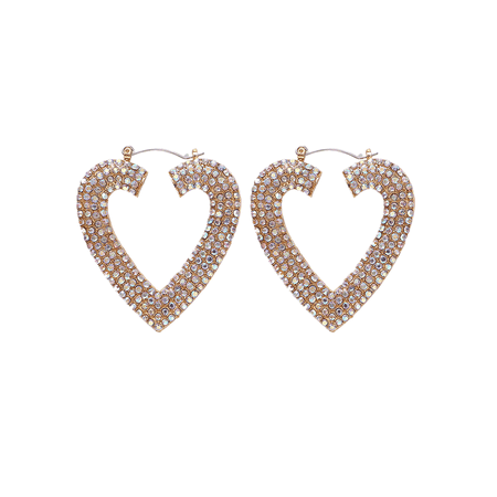 JESSICABUURMAN – KOMLY Diamante Heart Earrings - Pair
