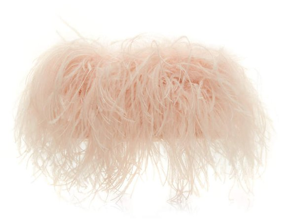 Altuzarra Espadrille Feather Evening Clutch