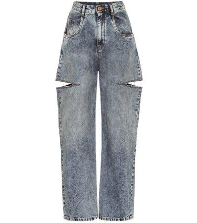 Cutout High-Rise Wide-Leg Jeans | Maison Margiela - Mytheresa