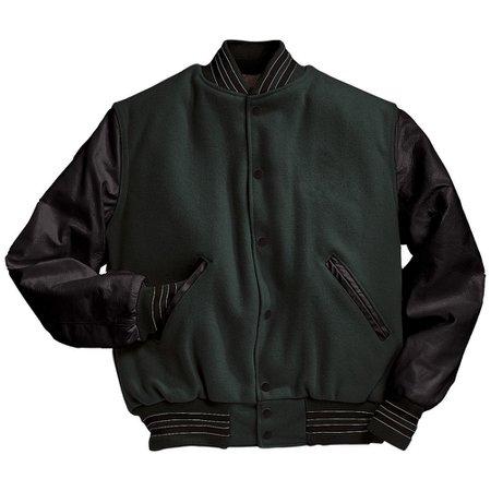 Mount Olympus Awards Dark Green and Black Varsity Letterman Jacket