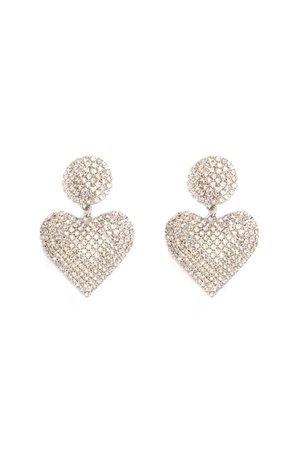 Heart About It Earrings - Silver - Jewelry - Fashion Nova