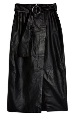 Topshop Leather Wrap Pencil Skirt | Nordstrom