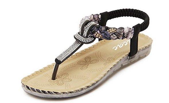 Black and White Stripes Sandals