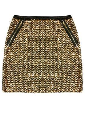 gold sequins skirt