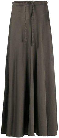 long tie waist skirt