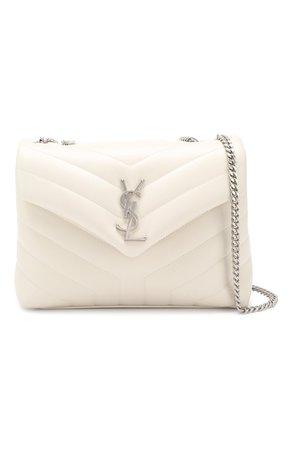 Женская белая сумка monogram loulou small SAINT LAURENT — купить за 112000 руб. в интернет-магазине ЦУМ, арт. 494699/DV726