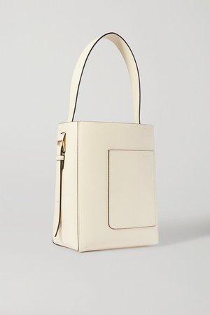 Secchiello Small Textured-leather Tote - Off-white