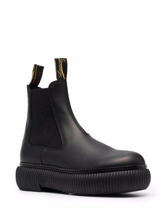 LANVIN Ridged Sole Ankle Boots - Farfetch