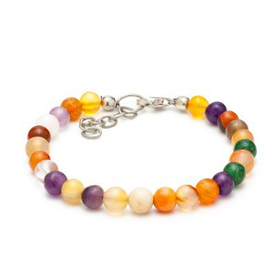 Multicolor Agate Bracelet | Mystic Self LLC