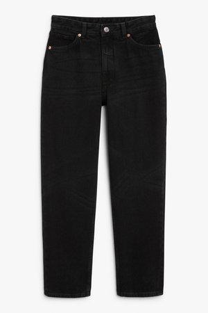 Taiki black x-long jeans - Black magic - Jeans - Monki WW