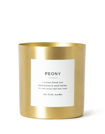 Peony Brass Candle | Fair Traded | The Little Market