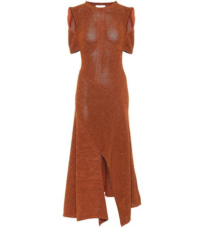 Cotton-blend knit maxi dress
