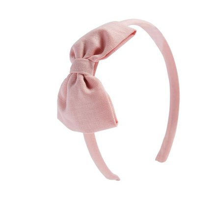 Pink Linen Big Bow Hairband – PEPA AND CO
