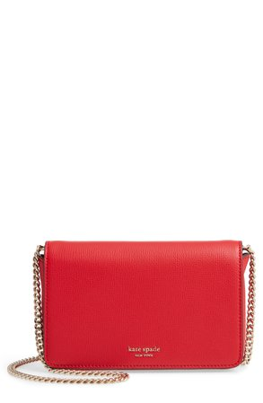 kate spade new york sylvia leather wallet on a chain | Nordstrom