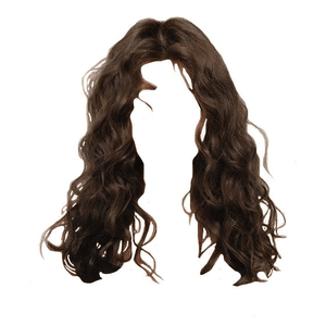 curly/wavy brown hair png