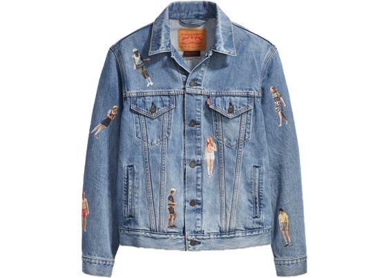 Levis x Stranger Things Vintage Fit Trucker Jacket Medium Wash