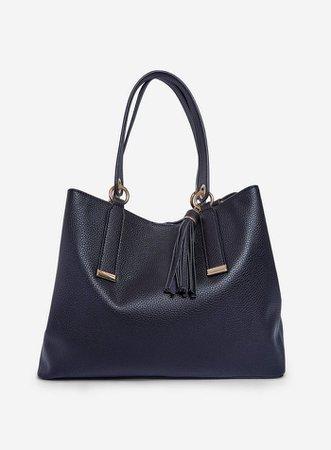 Black Tassel Detail Tote Bag | Dorothy Perkins