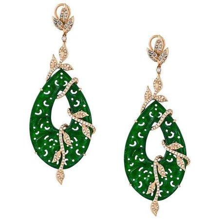 Emerald Hanging Earrings