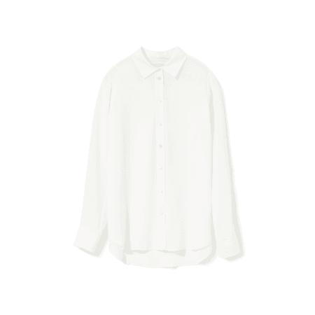 Women's Clean Silk Relaxed Shirt | Everlane white