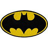 "AmazonSmile: [Single Count] Custom and Unique (3.5"" x 2"" Inches) Oval DC Comics Gotham Superhero Batman Logo Iron On Embroidered Applique Patch {Black and Yellow Colors}"
