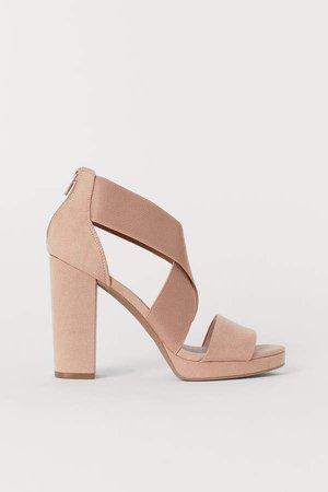 Sandals with Elastic - Orange