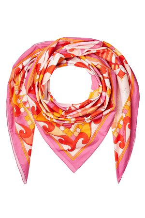 Printed Cotton Scarf Gr. One Size