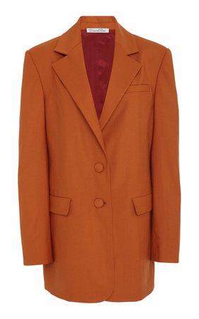 Wool-Blend Blazer by Oscar de la Renta | Moda Operandi