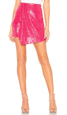 About Us Selma Sequin Skirt in Berry   REVOLVE