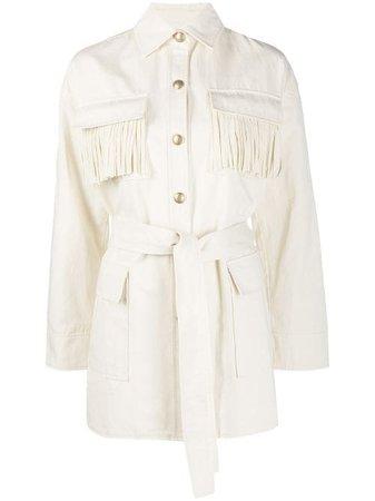 Pinko Fringed Shirt Jacket - Farfetch