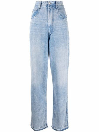 Shop Isabel Marant Étoile straight-leg denim jeans with Express Delivery - FARFETCH