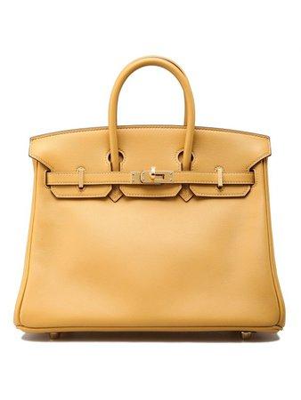 HERMÈS Birkin 25 Bag Curry Swift with Gold Hardware