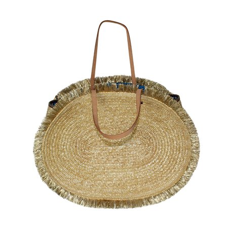 Exquisite J Straw and Lurex Basket Bag | Muse Boutique Outlet – Muse Outlet