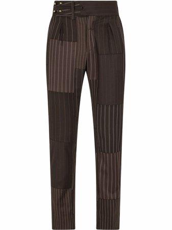 Dolce & Gabbana patchwork stripe tailored trousers - FARFETCH