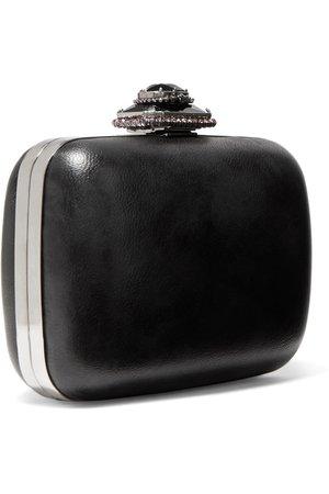 Black Crystal-embellished leather shoulder bag   Alexander McQueen   NET-A-PORTER