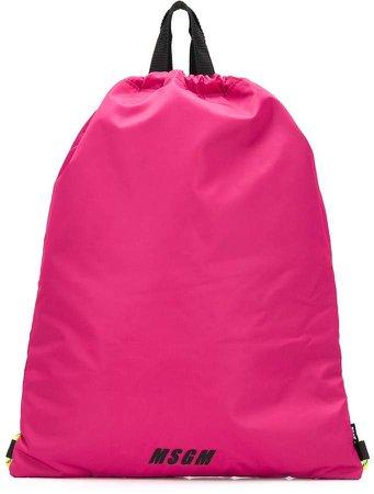 logo-print drawstring backpack
